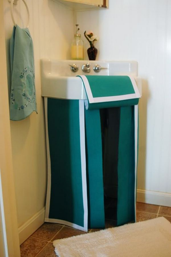 Best 25 Bathroom Sink Skirt Ideas On Pinterest Sink