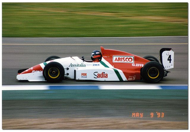 Pedro Paolo Diniz - Reynard 93D Cosworth DFV - Forti Corse - BRDC International Trophy - 1993 International F3000 Championship, round 2 - © Antsphoto