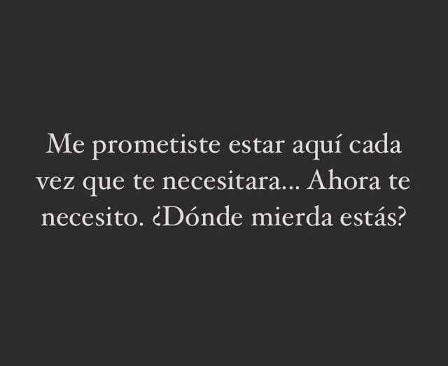 Me prometiste