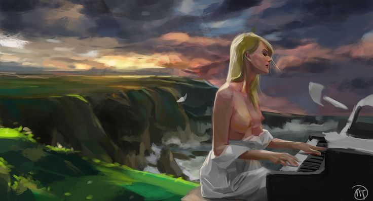 Sing along - study, Thụ Nguyễn on ArtStation at https://www.artstation.com/artwork/OEkAe