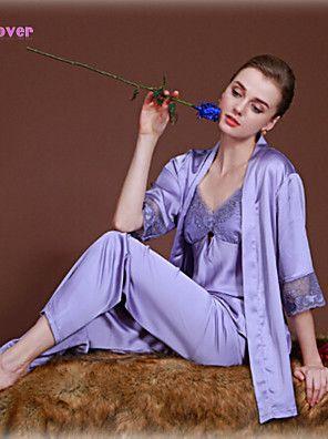 Ultra Sexy / Costumes / Nuisette & Culottes / Lingerie en Dentelle / Robe de chambre / Satin & Soie Vêtement de nuit Femme Jacquard