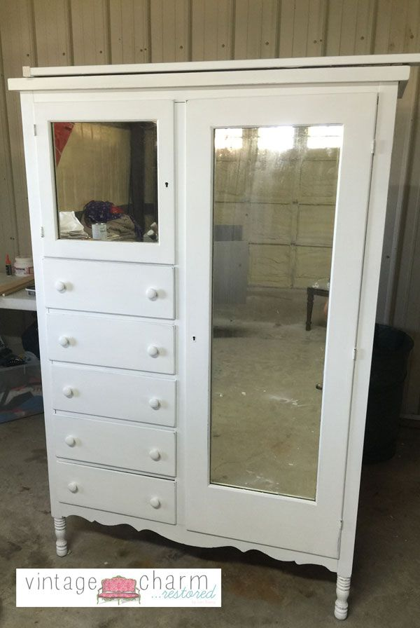 With Anything Old Vintage Antique White Do Yourself A Favor And Save Some Time I Did With This Antique White Painted Bedroom Furniture Piece But