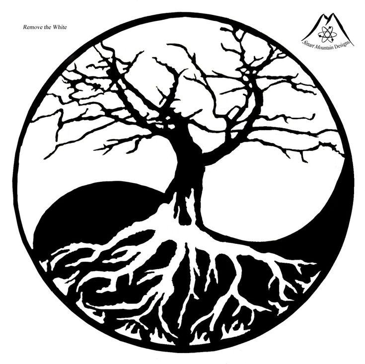 Ying Yang Tree Life Tattoo