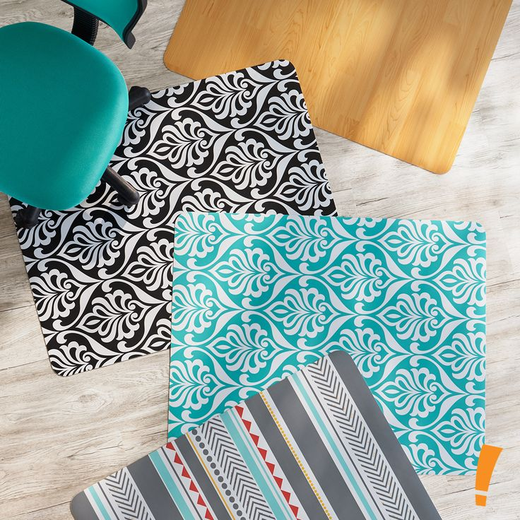 add stylish flair and protect your floors with these office chair mats by just home - Office Chair Mat