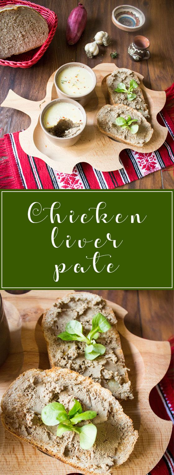 Deliciously creamy chicken liver pate or chicken liver spread, perfect if served on toast.