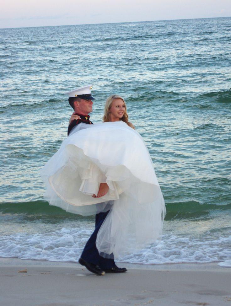 Marine Corps beach wedding 23 best Beach
