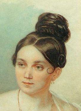 ca. 1830, Abendfrisur