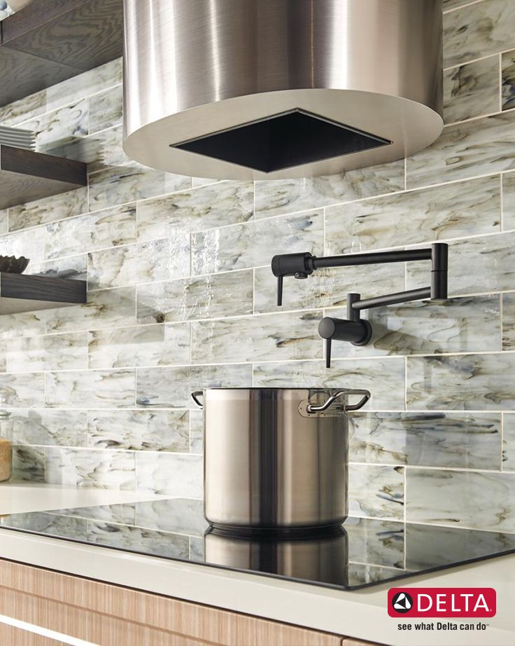 kitchen designs by delta. A Delta Contemporary Pot Filler in Matte Black brings both functionality  and an industrial modern edge 88 best Dream Kitchen Design Inspiration images on Pinterest