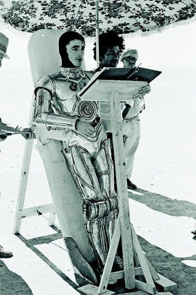 Rare Photograph from Star Wars - The man inside C-3PO