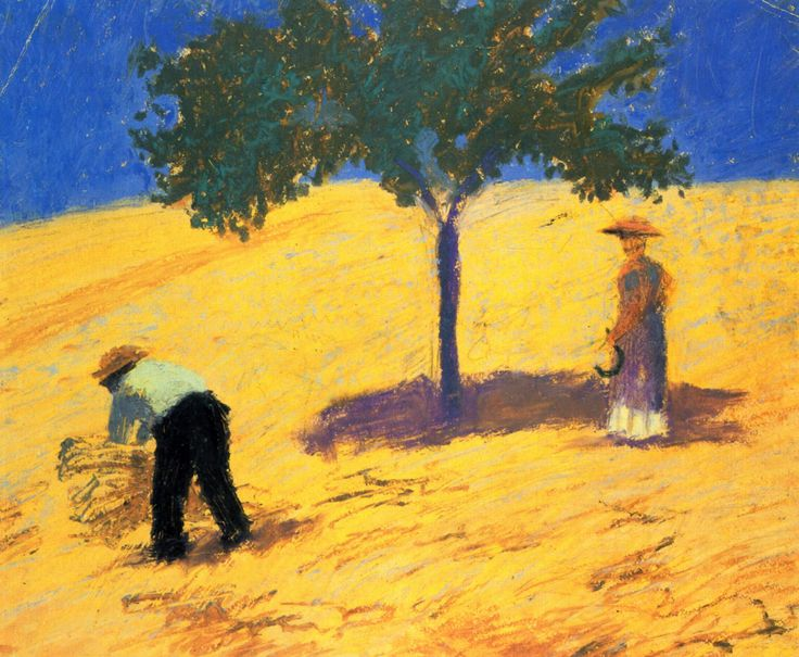 August Macke - Tree in the cornfield, 1907, 30 x 15.8 cm
