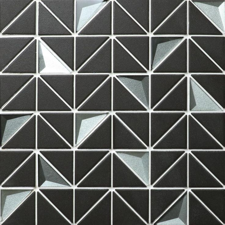 Merola Tile Trego Andromeda Black With African Grey 10 3 4 In X 10 3 4 In X 6 Mm Unglazed Porcelain And Glass Mosaic Tile Aam2ubg3 The Home Depot Mosaic Tiles Mosaic Glass Glass Mosaic Tiles