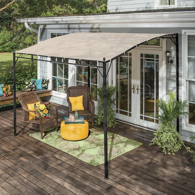 Sunshade Awning Gazebo Seventh Avenue With Images Sunshade Awning Gazebo Awning Gazebo Patio Shade