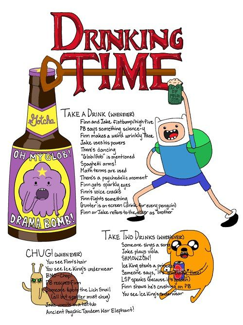 Adventure Time Drinking Game. Algebraic!
