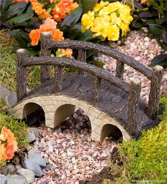 Миниатюрные скульптуры для волшебного сада. Идеи