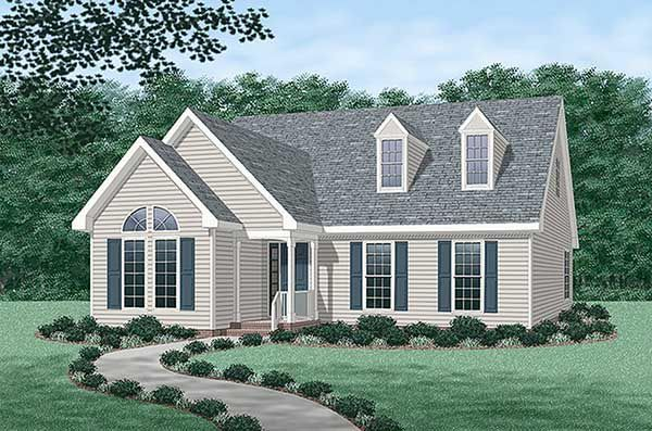 Cape Cod   Country   House Plan 45233