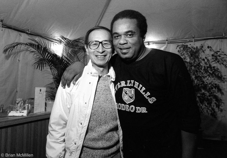 Record and concert producer Herb Wong and trumpeter Freddie Hubbard by Brian McMillen