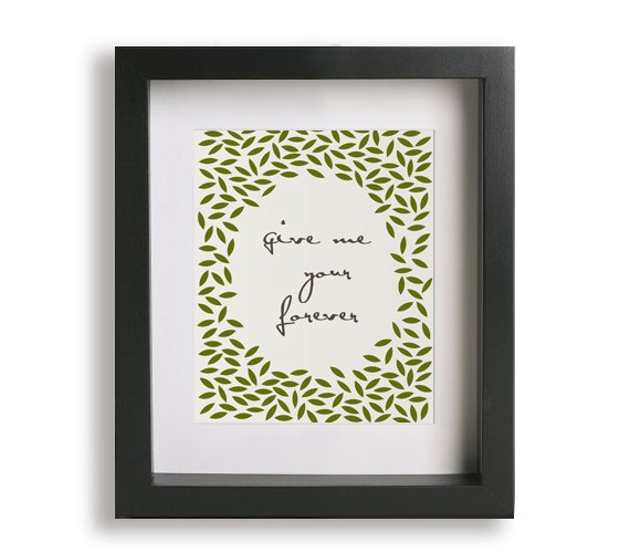 Wall Decoration For Wedding Anniversary : Forever ben harper music lyric art print wedding