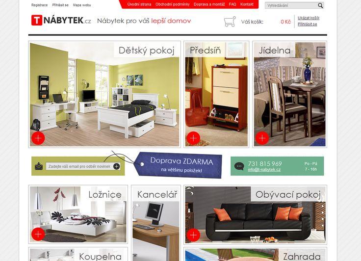 Koupě nábytku online je na stránkách T-nabytek.cz hračkou.