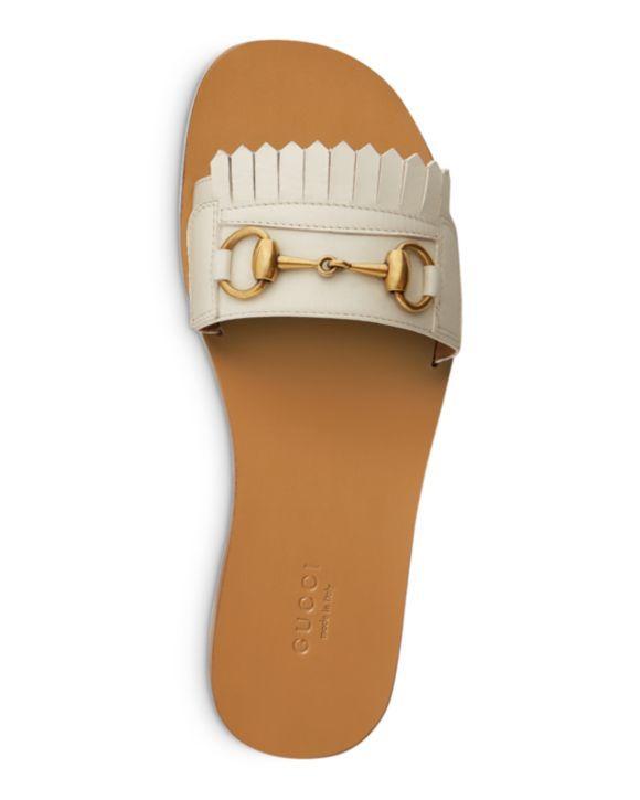 932a6e261 Women's Fringe Leather Slide Sandals | The Imelda Marcos In Me ...