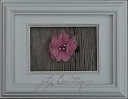 Dusty Rose Shabby Chic Flower Clip -$3.00 available on jLj Bowtique
