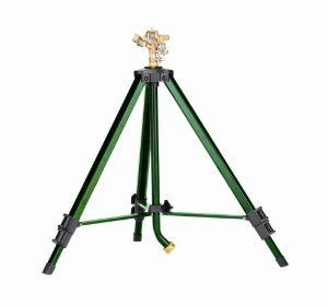 "Orbit 58308 Tripod Base with Brass Impact by Orbit. $43.99. Area coverage 20-foot to 40-foot radius. ""Goose neck"" hose attachment for easy hose connection. Heavy-duty brass impact head easily adjusts from 00-3600. Sturdy metal construction with weighted legs for added stability. Tripod conveniently adjusts from 25-inches to 48-inches in height. Amazon.com                For a serious sprinkler that fits your unique needs, try the Orbit telescoping tripod sprinkler. It extends f..."