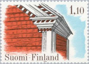 Issued in 1979,Suomi - Frontage of the floor storehouse Rasula, Kuortane
