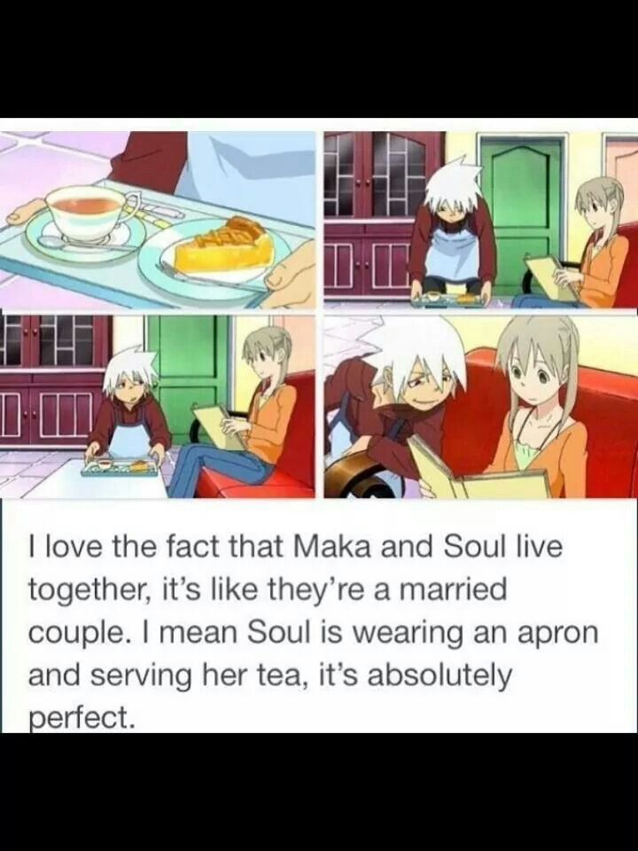 Maka and soul - soul eater no this is not perfect this is a punch in my gut look at how close they are THEY SHOULD BE married and yet they're not! why are they not? there NOT EVEN DATING! what the f***k
