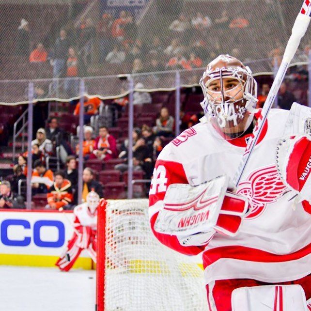 TRADE ALERT . Flyers trade two conditional draft picks for goalie Petr Mrazek. In my opinion I think it's a smart move. He may not be the most consistent goalie but when this guy is on his game he is actually really really good. We absolutely needed to get someone and I think Ron Hextall made a good move. #trade #nhl #nhltrade #philly #philadelphia #flyers #philadelphiaflyers #flyershockey #letsgoflyers #detroit #detroitredwings #hockey