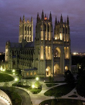 Washington National Cathedral, Washington, DC; designed by Philip Hubert Frohman and George Frederick Bodley