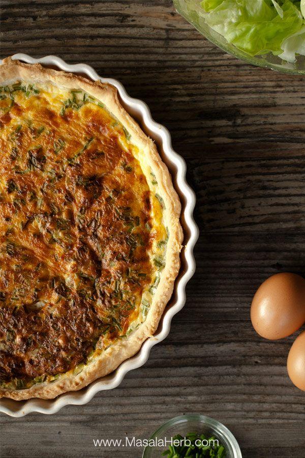 Quiche Lorraine Recipe easy - How to make Quiche Lorraine from scratch www.masalaherb.com