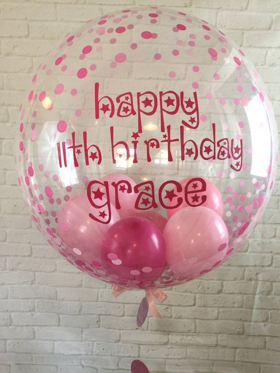 Birthday Rainbow Confetti Balloon in a Box Gift Delivered Personalised Message!
