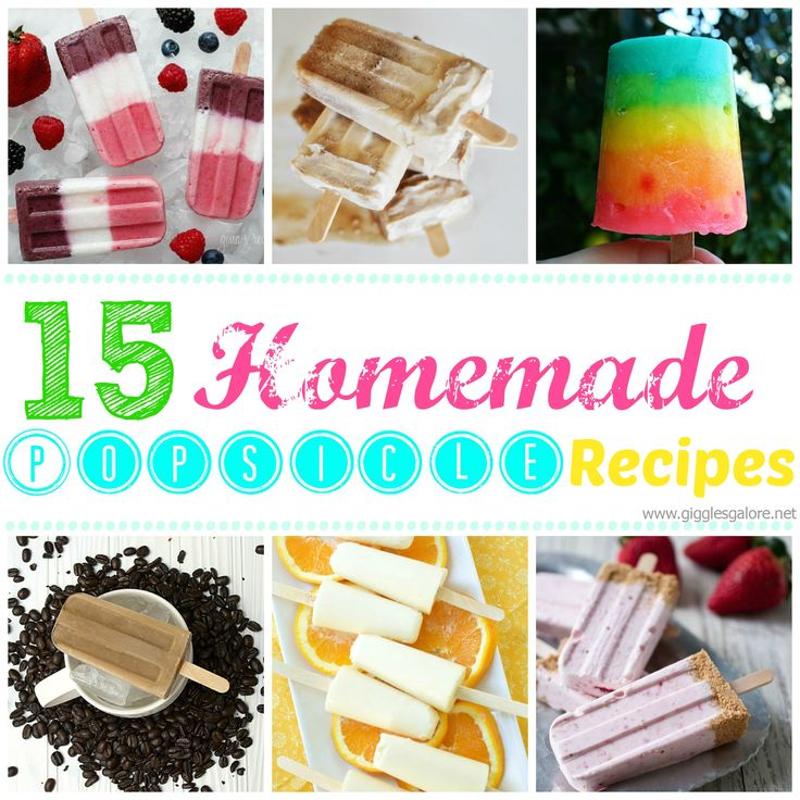 how to make homemade icy poles