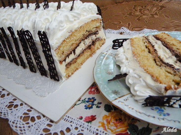 Recept innen .( fázisfotókkal ellátott). Nem tudom ha Málaga városról kapta e a nevét ,nincs erre utalás. Nagyon finom, könnyű torta,kicsi...