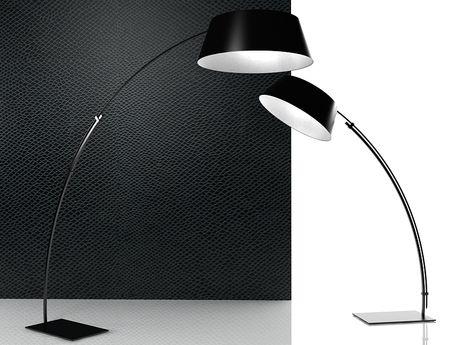 lampadaire ouverture lighting design m tal cinna. Black Bedroom Furniture Sets. Home Design Ideas