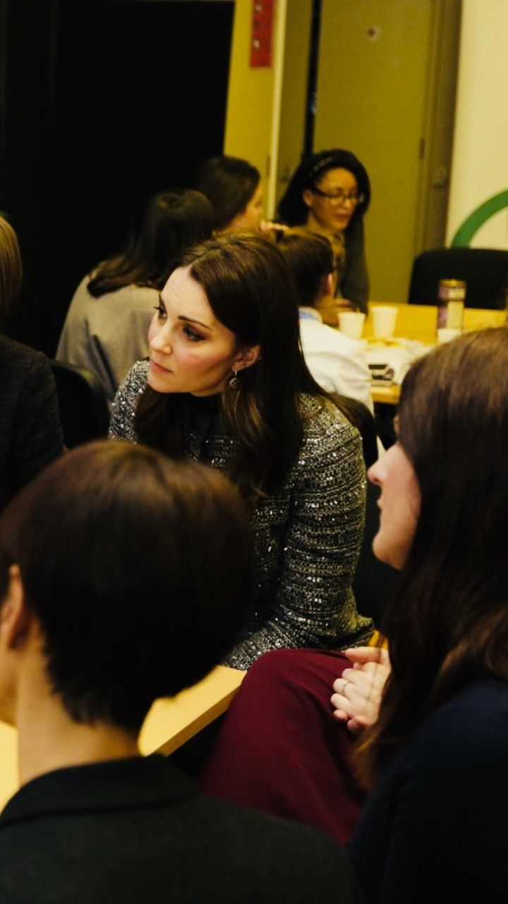 HRH the Duchess of Cambridge talks with young people and staff leading the National Lottery funded HeadStart programme, building Mental Health and resilience in children and young people across the...