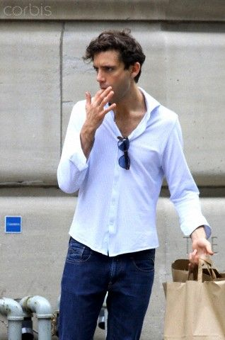 Mika did some shopping and had a coffee with his family in old Montreal, Canada. August 15, 2012