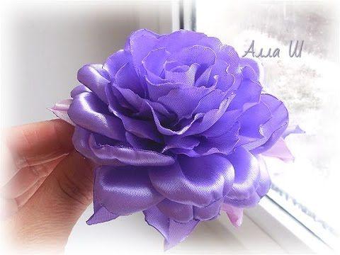 Роза из атласной ленты / D.I.Y. Rose of Satin ribbon