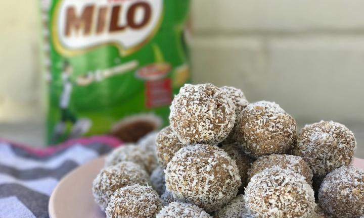 Easy no-bake Milo balls