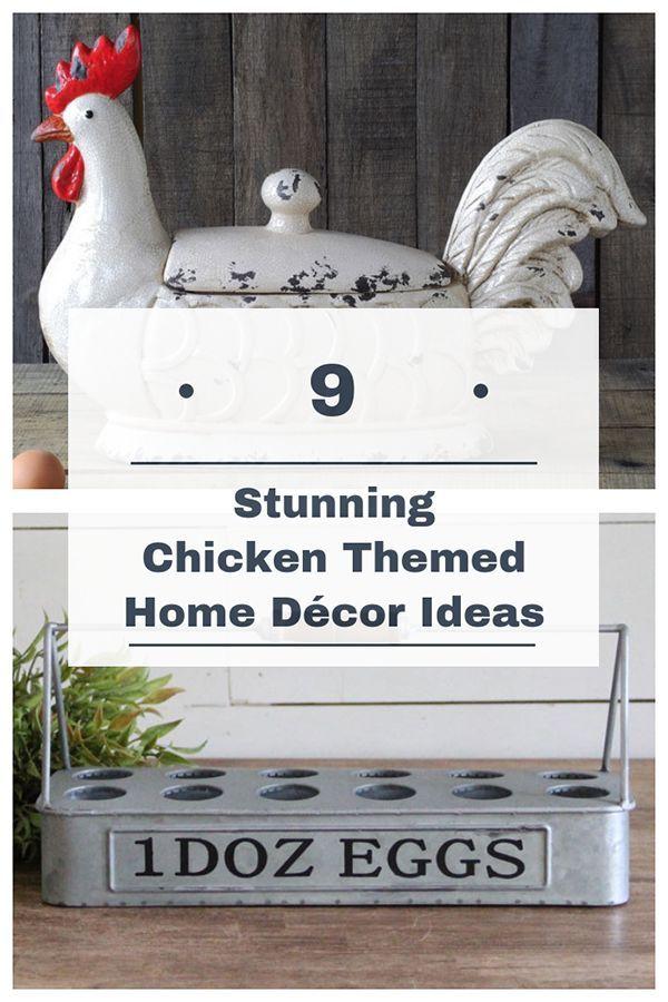 9 Chicken Themed Home Decor Ideas Pampered Chicken Mama Raising Backyard Chickens Chicken Kitchen Decor Chicken Themed Kitchen Rooster Kitchen Decor