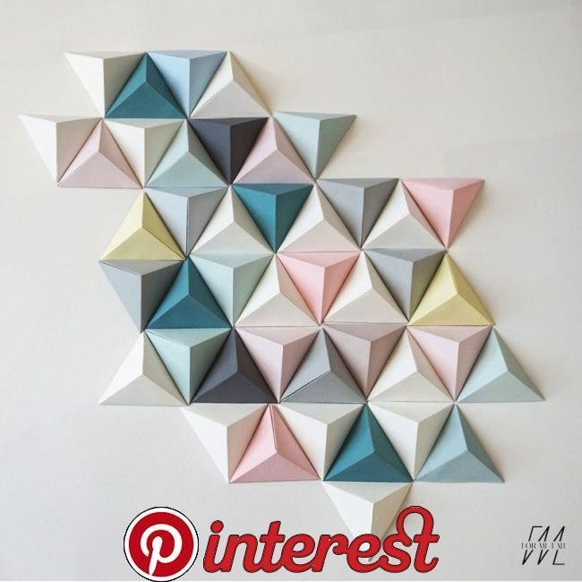 Diy Canvas Painting Ideas Wall Decor Origami Wall Art Origami Decoration Geometric Origami