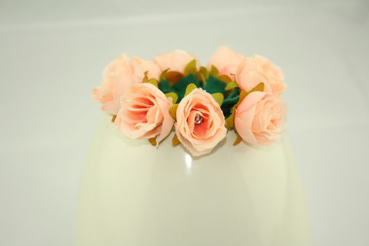 Light Pink Floral Bun Hair Tie