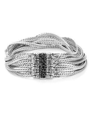 Stephen Dweck Layered Chain Black Sapphire Bracelet