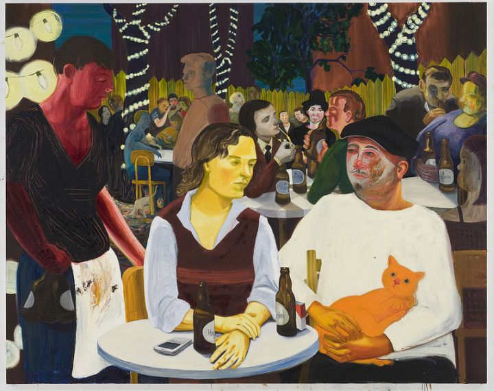 Beer Garden with Ulrike and Celeste (2009) - Nicole Eisenman: Eisenman Beer, Celest, Carnegie International, Full Articles, Nicole Eisenman, Carnegie Museums, 2013 Carnegie, Painting, Beer Gardens