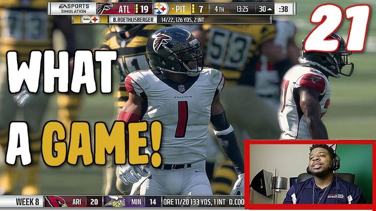 The Falcons Had A Close Game Against The Steelers! Madden 18