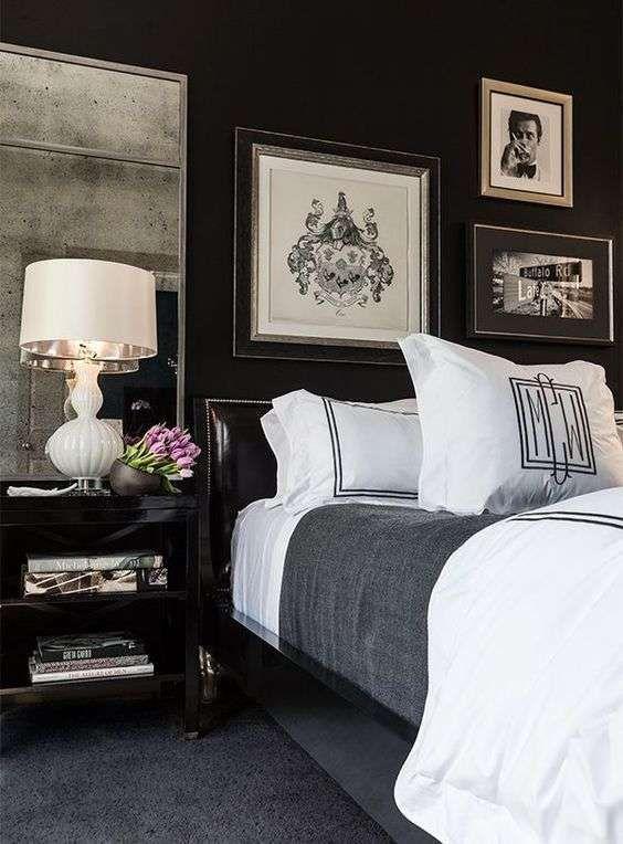 Colori scuri per arredare la camera da letto - Camera da letto di lusso