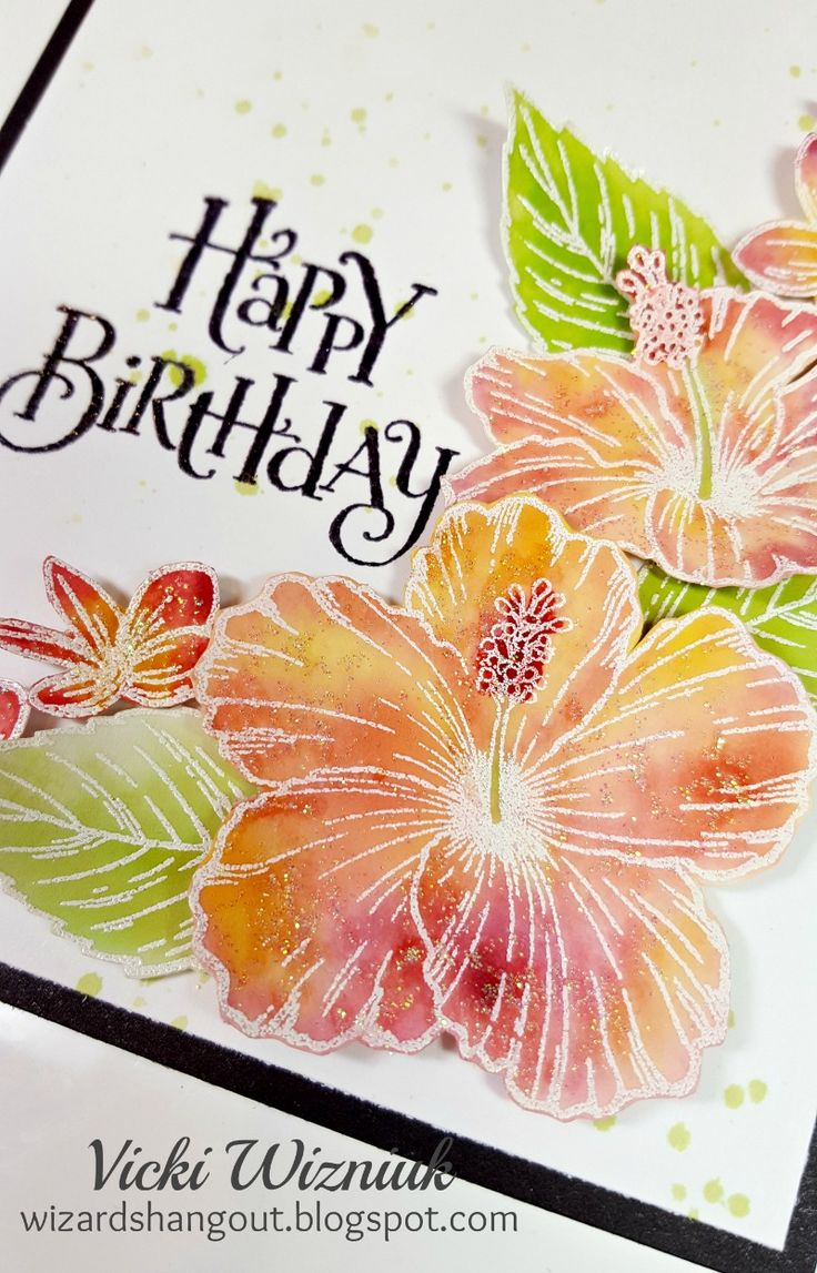 65 best hawaiian cards images on pinterest cards flower cards and wizards hangout hawaiian hibiscus birthday card kristyandbryce Gallery