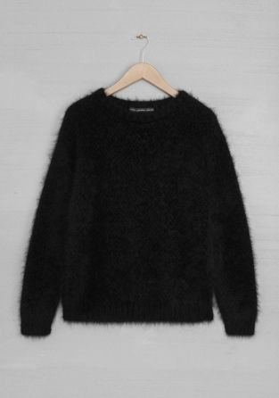 & Other Stories fuzzy angora pullover http://www.stories.com/Ready-to-wear/Knitwear/Fuzzy_pullover/582940-597818.1#597819