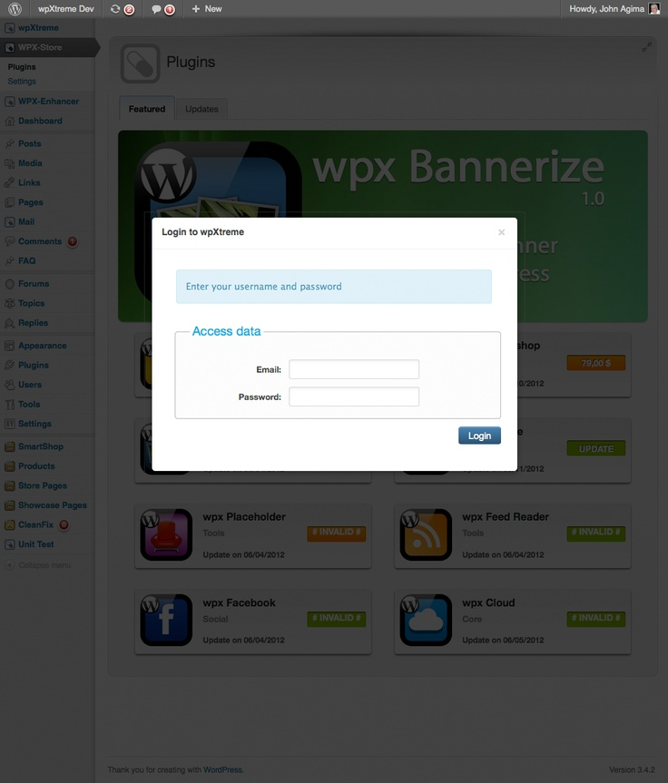 Login to the WPX Store