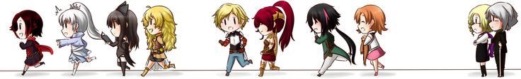 [ RWBY ] Run, RWBY Casts !! [ Chibi ] by Shizumii-Kaii.deviantart.com on @deviantART