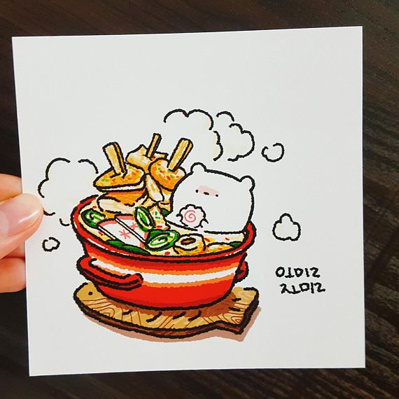 ● Cute postcards with delicious food and Omilzomil friends.  ● Fish cake soup and Kimbap (korean food) ● Two in one set. ● 12cm * 12cm, digital printing  ● Thickness of 250g ● Writing is good because it is moderately thick.  ● The back is all white. ● Colors may vary from monitor to monitor  ● Delivery period takes approximately 2 to 3 weeks.  ⓒ 2017. omilzomilShop all rights reserved.